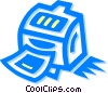 Vector Clipart image  of a printer