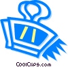 Vector Clip Art graphic  of a bulldog clip