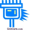 computer cable Vector Clipart illustration