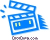 clapper board Vector Clipart illustration