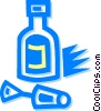 Vector Clipart image  of a correction fluid