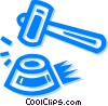 Vector Clipart picture  of a Gavels