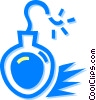bomb Vector Clip Art graphic