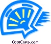 Vector Clip Art picture  of a hand fan
