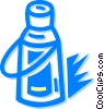 Vector Clipart graphic  of a thermos