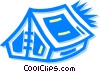 Tents Vector Clip Art graphic