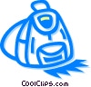 back pack Vector Clipart illustration