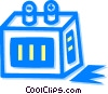 Batteries Vector Clipart illustration