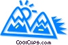 Vector Clip Art picture  of a Mountains