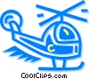 Helicopters Vector Clipart illustration