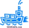 cargo ship Vector Clip Art picture