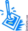 Vector Clip Art graphic  of a paintbrush