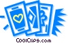 Vector Clipart picture  of a playing cards