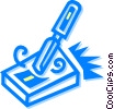 Vector Clip Art graphic  of a Chisels