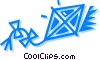 Kite Flying Vector Clip Art image