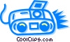 Vector Clip Art graphic  of a stereo/mini system