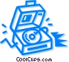 Contemporary Record Players Vector Clipart image