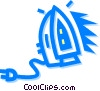 Vector Clip Art image  of a irons