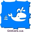 Vector Clipart graphic  of a Whales