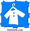 Clothes Hangers Vector Clipart illustration