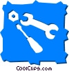 Vector Clip Art picture  of an Assorted Carpentry Tools