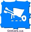 Wheelbarrows Vector Clip Art picture
