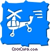 Vector Clip Art picture  of a Helicopters