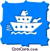 Vector Clipart illustration  of a Ships