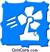 Vector Clip Art picture  of a Electric Fan