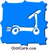 Scooters Vector Clip Art graphic