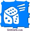 Vector Clipart image  of a Dice