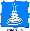 Vector Clipart picture  of a Birthday Cakes
