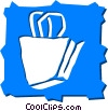 Vector Clip Art image  of a Shopping Bags