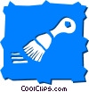 Vector Clip Art image  of a Paintbrushes