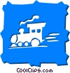 Vector Clipart picture  of a Trains Locomotives