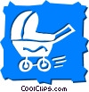 Strollers and Carriages Vector Clipart image