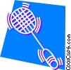 Vector Clip Art image  of a Racket