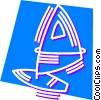 Windsurfing Vector Clipart graphic