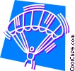 Vector Clipart illustration  of a Parasailing  Paragliding