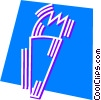 Vector Clipart image  of a Olympic Torches
