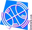 Basketballs and Nets Vector Clipart picture