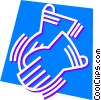 Safety Gloves Work Gloves Vector Clipart illustration