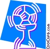 Vector Clipart picture  of a Soccer Balls