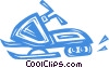 Vector Clipart graphic  of a snowmobile