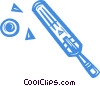 cricket paddle and ball Vector Clip Art picture