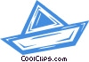 Vector Clipart picture  of a paper boat
