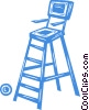 lifeguard chair Vector Clipart image