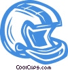 Vector Clip Art image  of a football helmet