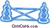 Vector Clip Art image  of a equestrian obstacles