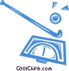 field hockey stick and ball Vector Clip Art image